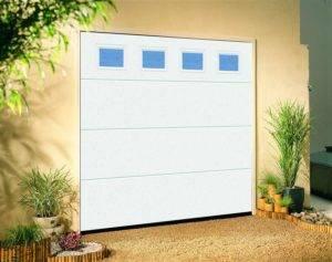 White sectional garage door