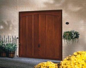 wood up and over garage door