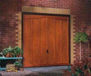 Wood singe panel garage door